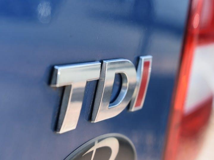 Blue Volkswagen Transporter 2.0 T30 TDI Shuttle SE 2014