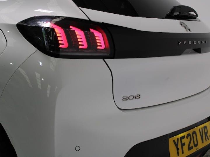 White Peugeot 208 1.2 Puretech Allure S/S 2020
